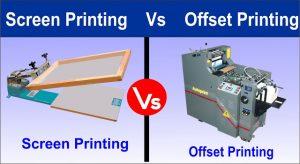 Screen Printing vs offset printing press