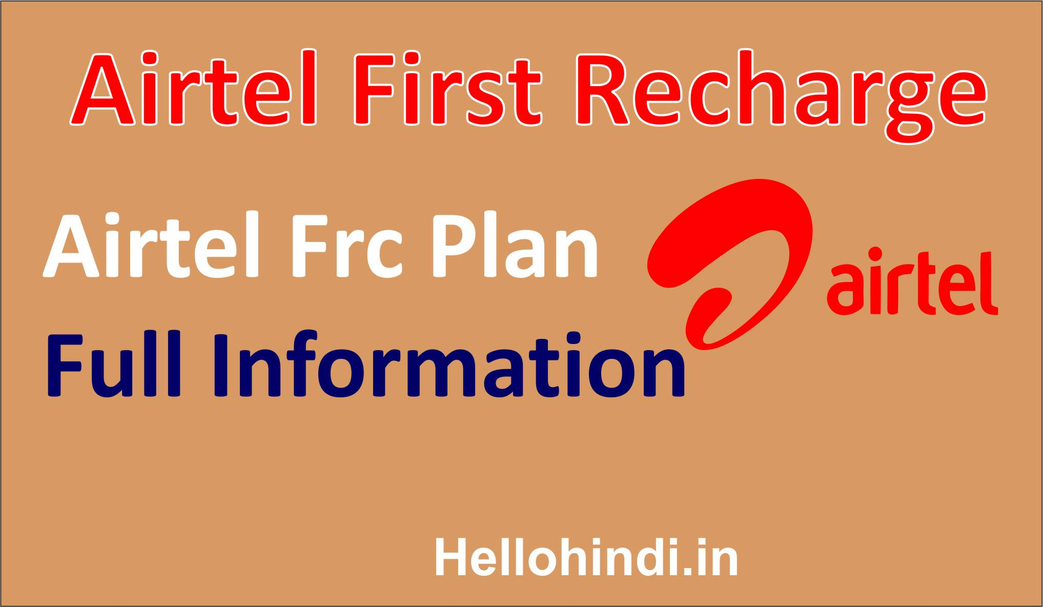 Airtel First Recharge Airtel Frc Plan With Retailer Commission